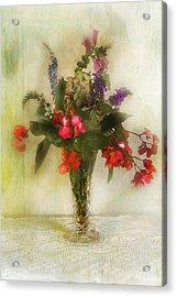 Small Vase Of Flowers Acrylic Print by John Rivera
