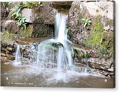 Small Waterfall Acrylic Print by Carolyn Postelwait