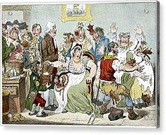 Smallpox Vaccination, Satirical Artwork Acrylic Print by