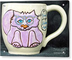 Smart Kitty Mug Acrylic Print by Joyce Jackson