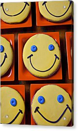 Smiley Face Cookies Acrylic Print by Garry Gay