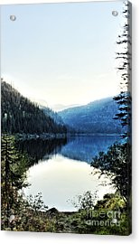 Smoke Behind Marshal Lake Acrylic Print by Janie Johnson