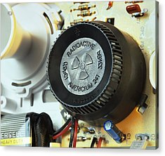 Smoke Detector Radiation Source Acrylic Print by Martin Bond