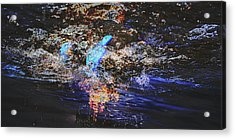 Smoke On The Water Acrylic Print by Kelly Reber