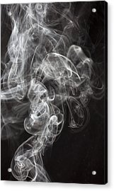 Smoke Swirls  Acrylic Print by Garry Gay