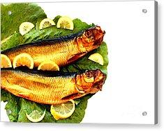 Smoked Fish Acrylic Print by Soultana Koleska