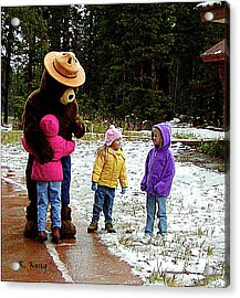 Acrylic Print featuring the photograph Smokey And The Girls by Roena King