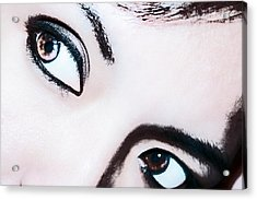 Acrylic Print featuring the digital art Smokey Eyes Of A Woman by Ester  Rogers