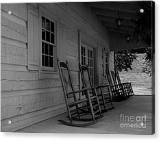 Smokey Mountain Front Porch Acrylic Print by Elizabeth Coats