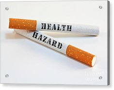 Smoking Is A Health Hazard Acrylic Print by Blink Images