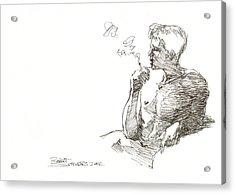 Smoking Acrylic Print by Robert Schnieders