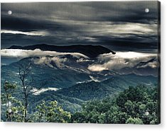 Smoky Mountain Clouds    Acrylic Print by Glenn Lawrence