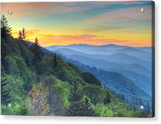 Smoky Mountain Morning Splendor Acrylic Print by Mary Anne Baker
