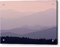 Smoky Mountain Sunset Acrylic Print