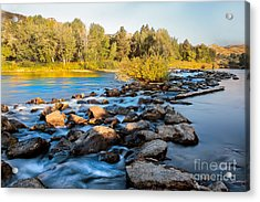 Smooth Rapids Acrylic Print by Robert Bales