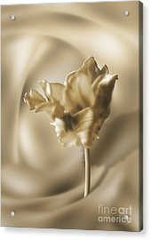 Acrylic Print featuring the digital art Smooth Tulip by Johnny Hildingsson