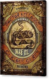 Snake Oil Acrylic Print