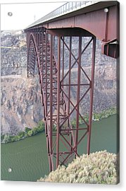 Acrylic Print featuring the photograph Snake River Bridge At Twin Falls by Rand Swift