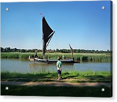 Snape Maltings Acrylic Print by Charles Stuart