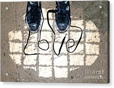 Sneaker Love 1 Acrylic Print by Paul Ward