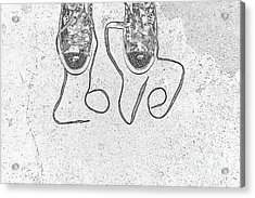 Sneaker Love 2 Acrylic Print by Paul Ward