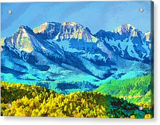 Sneffels Range Acrylic Print by Brian Davis