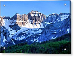 Acrylic Print featuring the digital art Sneffels Range Evening by Brian Davis