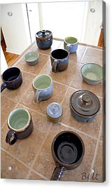 Snickerhaus Pottery Acrylic Print by Christine Belt
