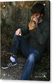 Sniffing Glue Acrylic Print by Photo Researchers, Inc.