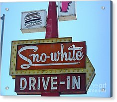 Acrylic Print featuring the photograph Sno-white by Beth Saffer