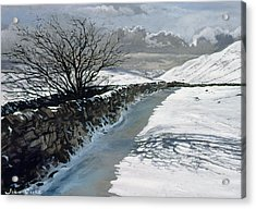 Snow Above Barbondale - Barbon Acrylic Print by John Cooke