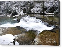 Snow Along The Back Fork Of Elk River Acrylic Print by Thomas R Fletcher