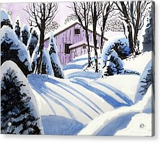 Acrylic Print featuring the painting Snow And Shadows by Terry Banderas