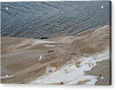 Snow At The Beach Acrylic Print