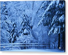 Snow Blanket At Twilight Acrylic Print
