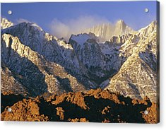 Snow Blows From Mount Whitney. The Acrylic Print by Phil Schermeister