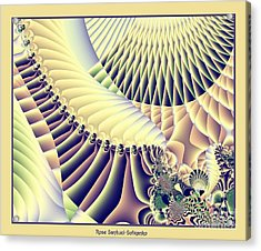 Snow Capped Mountains And Verdant Valleys Fractal 156 Acrylic Print by Rose Santuci-Sofranko