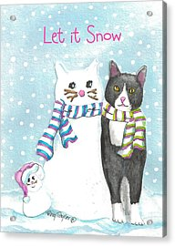 Snow Cats Acrylic Print by Terry Taylor