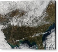 Snow Cover Stretching From Northeastern Acrylic Print