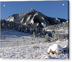 Snow Covered Bear Mountain Acrylic Print