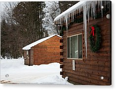 Acrylic Print featuring the photograph Snow Covered General Store by Ann Murphy