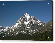 Snow Covered Mountain Acrylic Print by Amanda Kiplinger