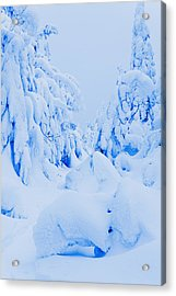 Snow-covered To Vallee Des Fantomes Acrylic Print by Yves Marcoux