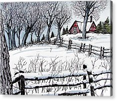 Acrylic Print featuring the painting Snow Field by Terry Banderas