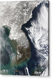Snow In Korea Acrylic Print by Stocktrek Images