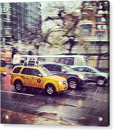 Snow In Nyc Acrylic Print