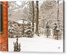 Acrylic Print featuring the photograph Snow In The Adirondacks by Ann Murphy