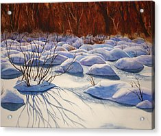 Snow Mounds Acrylic Print by Daydre Hamilton