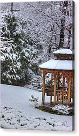 Snow On The Roof Acrylic Print by Barry Jones