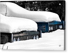 Snow Racers Acrylic Print